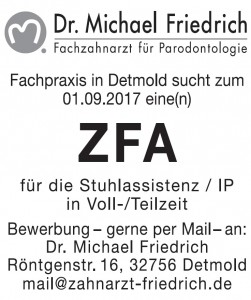 Stellenanzeige Dr. Friedrich